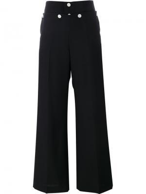 Широкие брюки Hyke. Цвет: чёрный