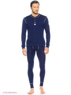 Лонгслив Design wool (термобельё) Janus. Цвет: синий