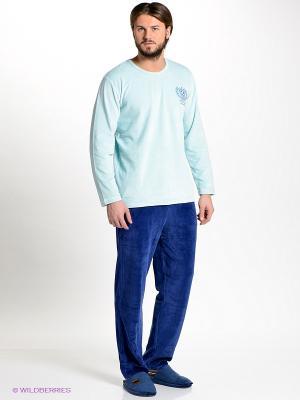 Домашний костюм Vienetta Secret. Цвет: голубой, синий
