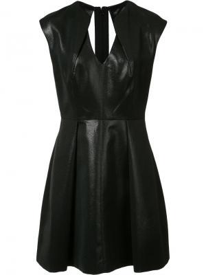 Платье с V-образным вырезом Halston Heritage. Цвет: чёрный