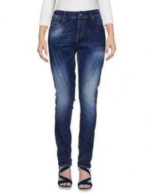 Джинсовые брюки BOOMBAP. Цвет: синий