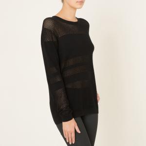 Пуловер из ажурного трикотажа THE KOOPLES SPORT. Цвет: черный
