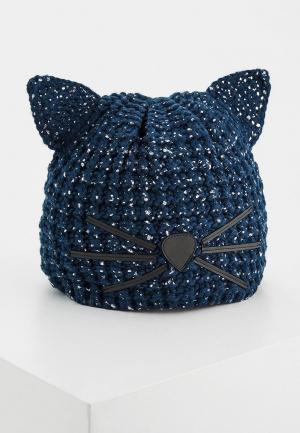 Шапка Karl Lagerfeld. Цвет: синий