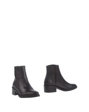Полусапоги и высокие ботинки MIISTA. Цвет: темно-коричневый