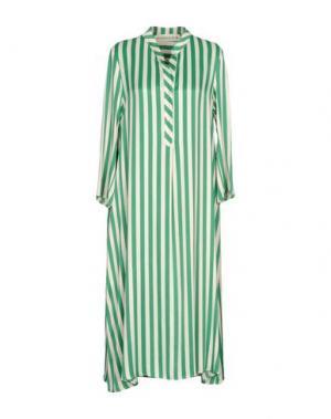 Платье длиной 3/4 SHIRTAPORTER. Цвет: зеленый