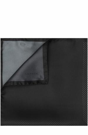 Шелковый платок с узором Lanvin. Цвет: темно-серый