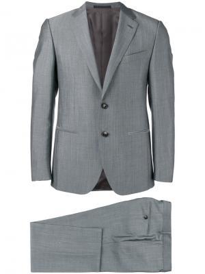Строгий костюм Caruso. Цвет: серый