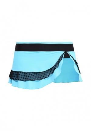 Юбка-шорты Dali. Цвет: голубой