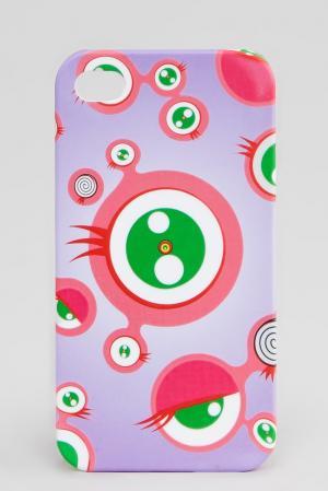 Подарок (чехол для IPhone 4) LVTK-0940 Takashi Murakami. Цвет: разноцветный