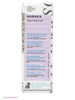 Дезодорант с экстрактом хвоща Korres. Цвет: прозрачный