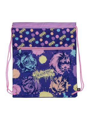 Сумка-рюкзак для обуви.Monster High Monster. Цвет: сиреневый