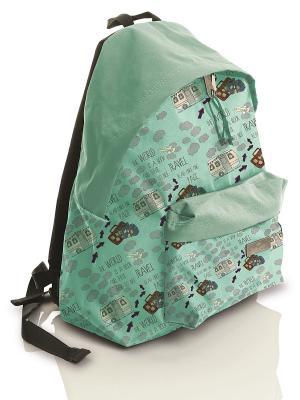 Рюкзак городской с водоотталкивающим покрытием Тревел Faber-Castell. Цвет: морская волна