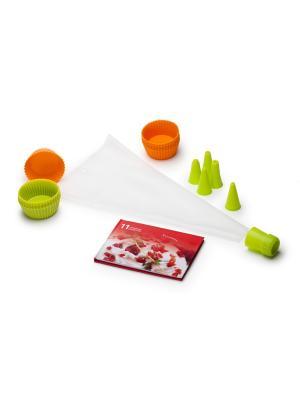 Набор форм для выпечки OURSSON. Цвет: светло-зеленый, оранжевый