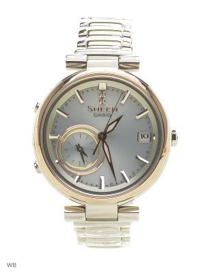 Часы Sheen SHB-100SG-7A CASIO. Цвет: серебристый