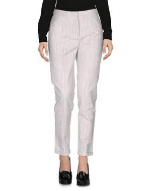 Повседневные брюки LORENA ANTONIAZZI. Цвет: голубиный серый