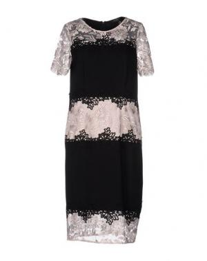 Платье до колена CHIARA D'ESTE. Цвет: черный