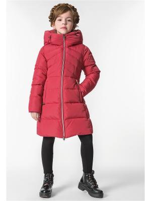 Пальто D`imma. Цвет: красный