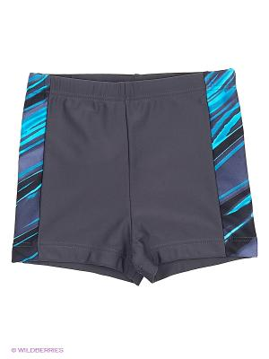 Плавки-шорты KICKERS. Цвет: темно-серый, бирюзовый