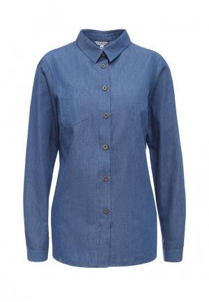 Рубашка джинсовая Yarmina. Цвет: синий