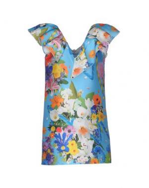 Короткое платье LEITMOTIV. Цвет: лазурный