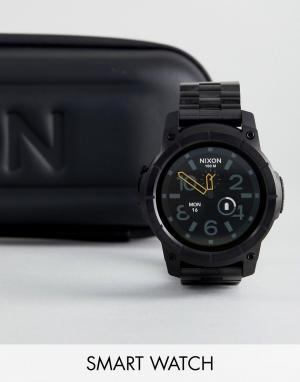 Nixon Черные наручные смарт-часы Mission SS. Цвет: черный