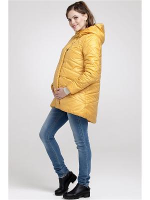 Полупальто Modress. Цвет: светло-желтый, горчичный, золотистый
