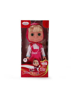Кукла карапуз маша и медведь, 33см, озвуч. 100 фраз, песенки, учим алфавит. Цвет: розовый, белый
