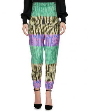 Повседневные брюки BEAYUKMUI. Цвет: зеленый