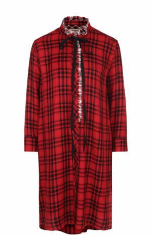 Платье свободного кроя в контрастную полоску Zadig&Voltaire. Цвет: красный