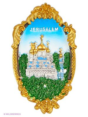 Магнит Церковь Марии Магдалины Иерусалим 3D Bethlehem Star. Цвет: зеленый