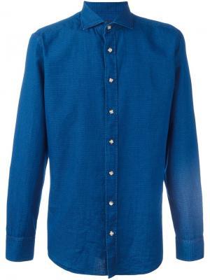 Классическая рубашка Hackett. Цвет: синий