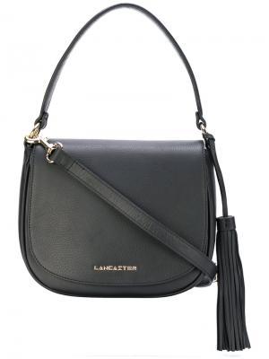 Полукруглая сумка на плечо Lancaster. Цвет: чёрный