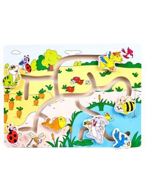 Лабиринт Лесные звери Винтик и Шпунтик. Цвет: розовый, голубой