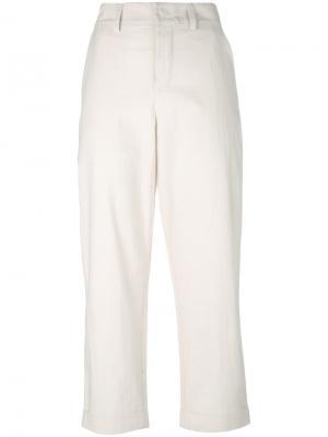 Зауженные укороченные брюки Toogood. Цвет: телесный