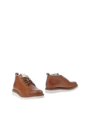 Полусапоги и высокие ботинки FEIT. Цвет: желто-коричневый