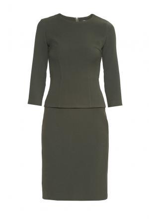 Платье из искусственного шелка с вискозой 178548 Cyrille Gassiline. Цвет: зеленый