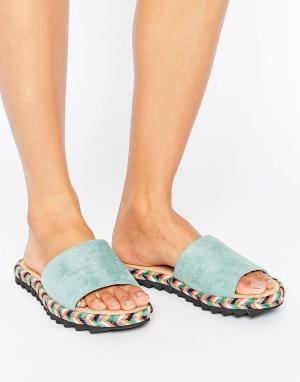 Glamorous Сандалии-эспадрильи. Цвет: зеленый