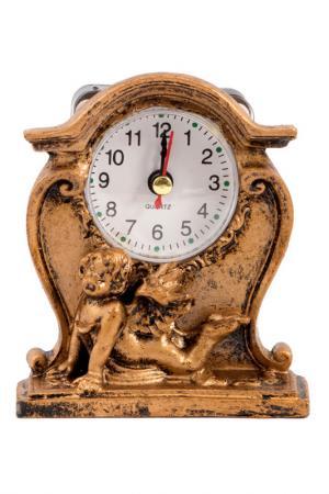 Часы настольные Ангелочек Русские подарки. Цвет: золотой, белый, черный