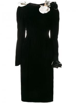 Платье с аппликацией A.W.A.K.E.. Цвет: чёрный