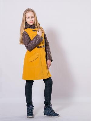 Пальто SAIMA. Цвет: желтый