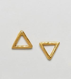Ottoman Hands Серьги-гвоздики с треугольной отделкой. Цвет: золотой
