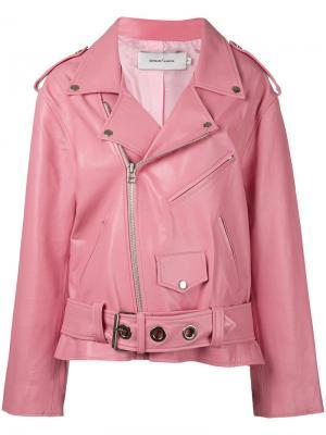 Байкерская куртка свободного кроя Marquesalmeida Marques'almeida. Цвет: розовый и фиолетовый