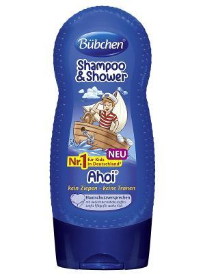 Шампунь для мытья волос и тела Йо-хо-хо, 230 мл Bubchen. Цвет: темно-синий, темно-фиолетовый