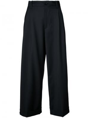 Укороченные брюки Facetasm. Цвет: чёрный