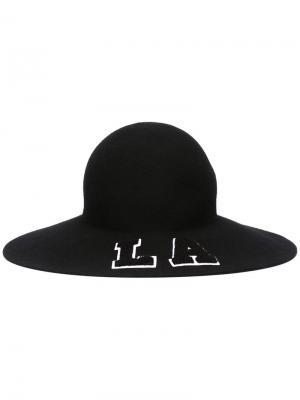 Шляпа LA Joshua Sanders. Цвет: чёрный