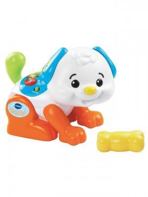 Подвижная интерактивная игрушка Щенок Vtech. Цвет: голубой, белый, оранжевый