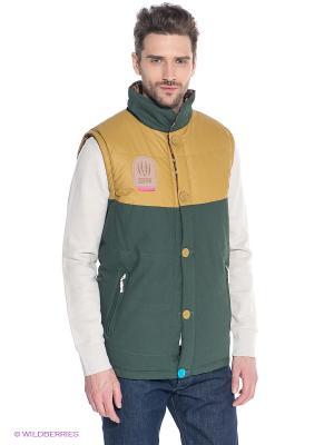 Жилет TRUESPIN Alaska Vest True Spin. Цвет: темно-зеленый, бежевый