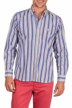 Рубашка Galvanni. Цвет: blue, white, yellow