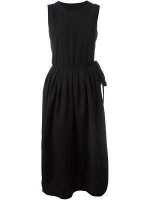 Тканое платье с запахом Comme Des Garçons Vintage. Цвет: чёрный