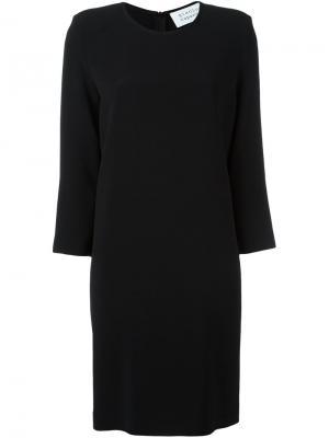Платье шифт с круглым вырезом Gianluca Capannolo. Цвет: чёрный